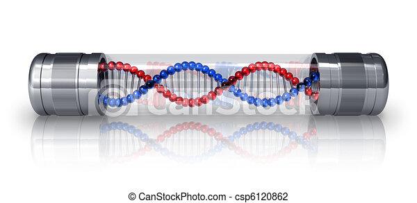 DNA molecule in hermetic capsule - csp6120862