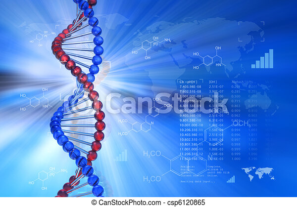 Genetic engineering scientific concept - csp6120865