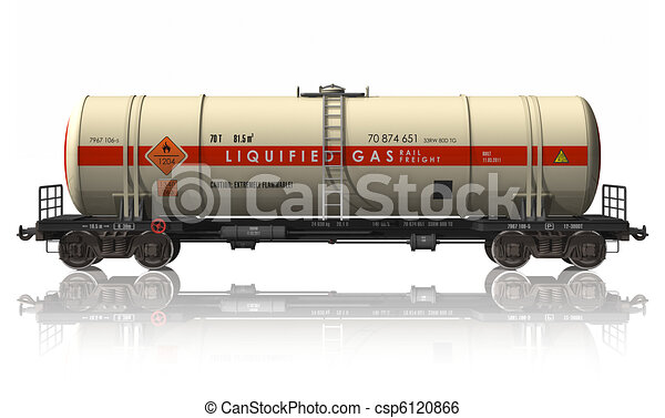 Gasoline tanker railroad car - csp6120866