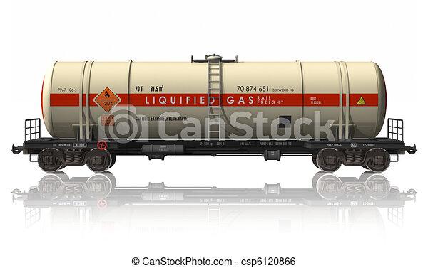 Gasoline tanker railroad car - csp6120866