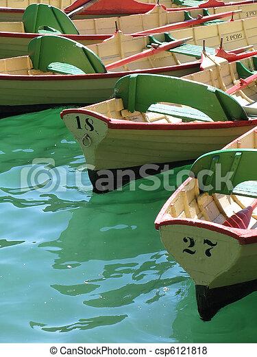 Row of oar boats - csp6121818