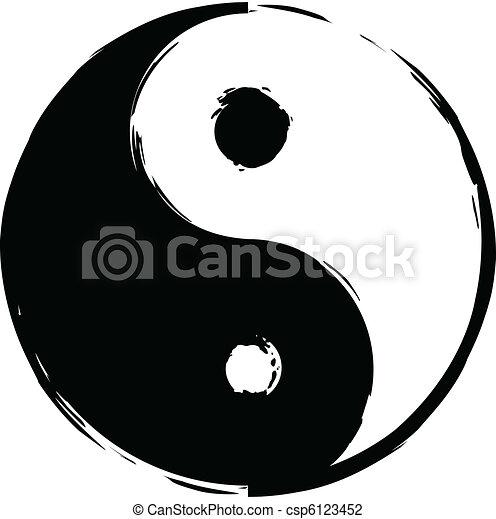 Symbol of yin-yang - csp6123452