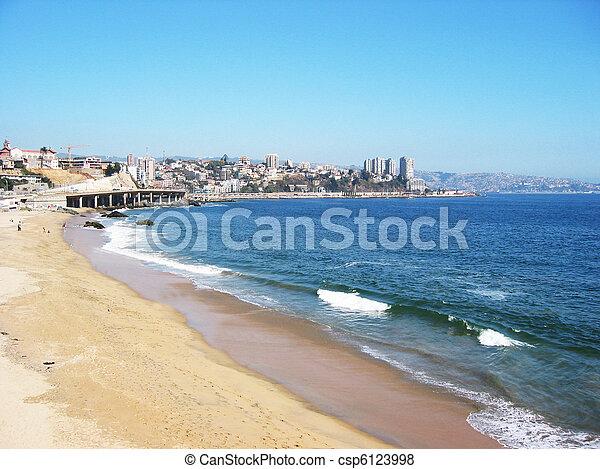 Pacific coast near Vina del Mar, Chile - csp6123998