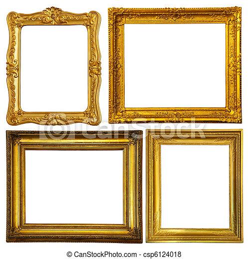 kevés, keret, állhatatos, arany - csp6124018