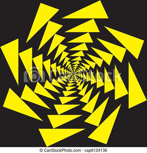 clip art vecteur de cercle noir hipnotic jaune