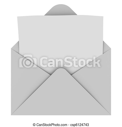 Envelope with blank letter - csp6124743
