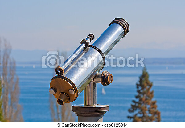 Vintage observation telescope - csp6125314