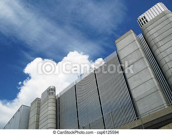 Modern industrial building - csp6125594