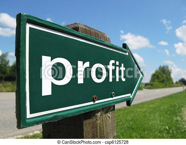 PROFIT road sign - csp6125728