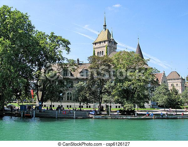 National Swiss historical museum in Zurich - csp6126127