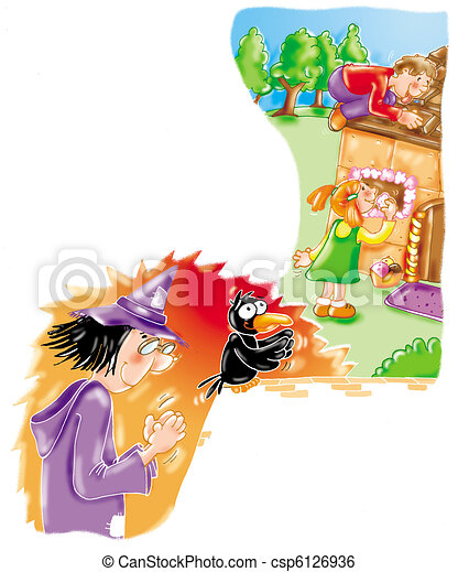 Hansel and Gretel fairy tale - csp6126936