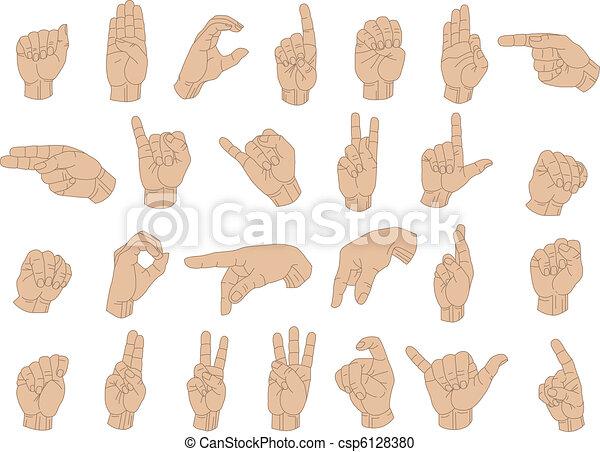 Sign Language Hands - csp6128380