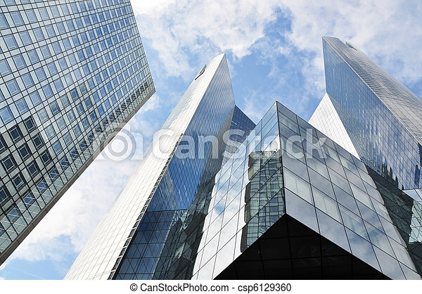 High-rise buildings in La Defense district of Paris - csp6129360