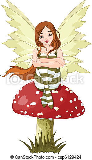 Young forest fairy - csp6129424