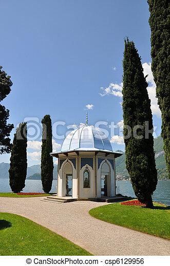 alcove, alps, architecture, bellagio, blue, city, coast, como, cypress, day, europe, european, famous, fascinating, garden, glamorous, grass, inviting, italian, italy, lake, landscape, lombardia, medi - csp6129956