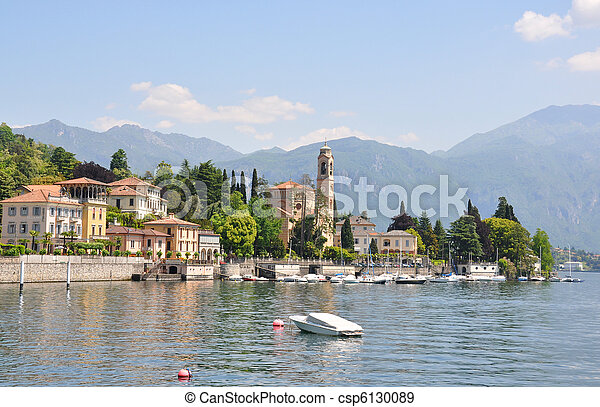 Tremezzo town at the famous Italian lake Como - csp6130089