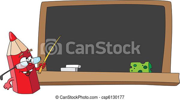 school pencil and blackboard - csp6130177