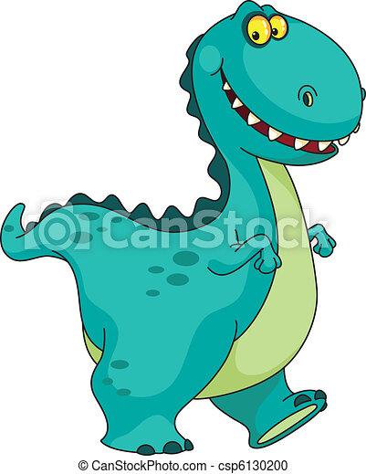 smiling dinosaur - csp6130200