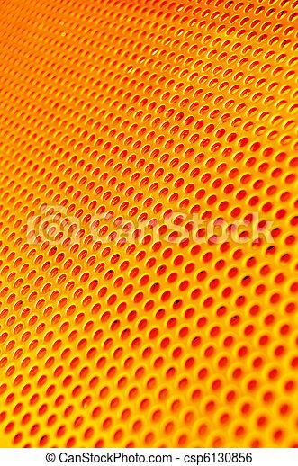 Red hot metal mesh