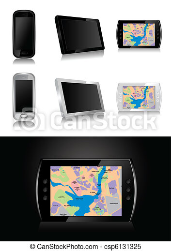 GPS device - vector illustration - csp6131325