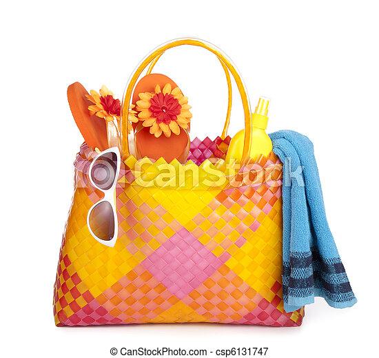 bag with beach items - csp6131747