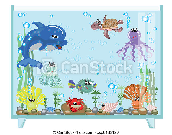 Aquarium, vector - csp6132120