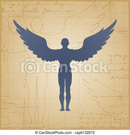 Winged man - csp6132672