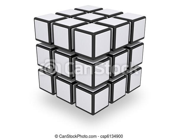 Assembled 3x3 cube - csp6134900