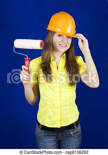 house painters with paint rollers