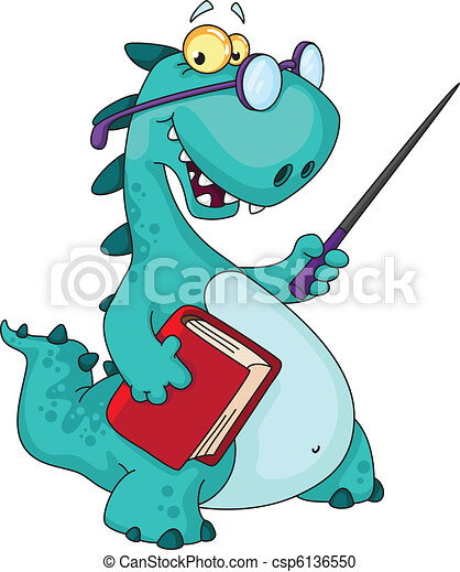 teacher dinosaur - csp6136550