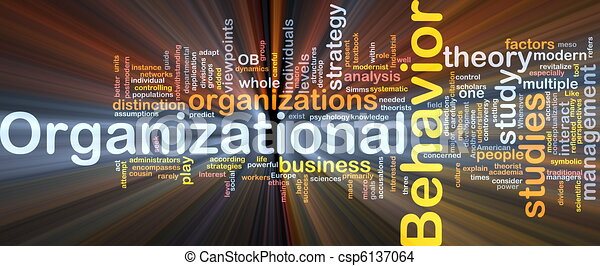 Organizational behavior is bone background concept glowing - csp6137064