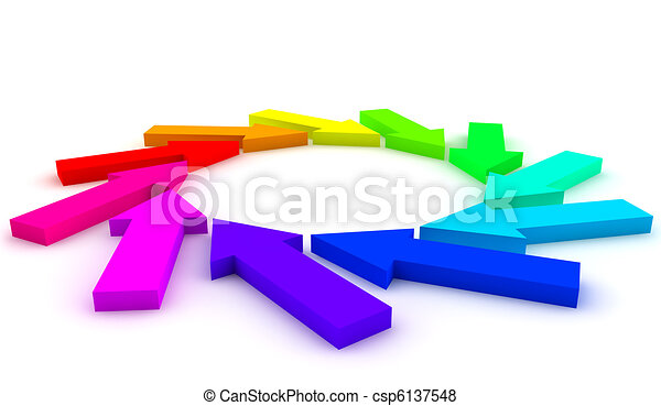 Arrows chart - csp6137548