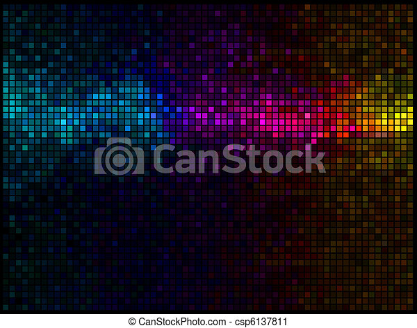 Multicolor abstract lights disco background - csp6137811