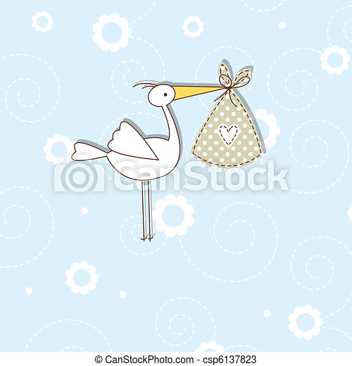 Baby arrival card - csp6137823