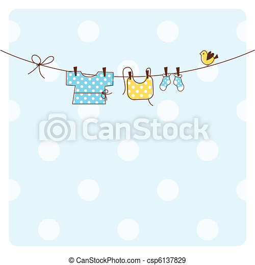 Baby shower invitation card  - csp6137829