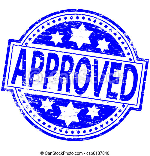 Approval Stamp Blue Clipart 1