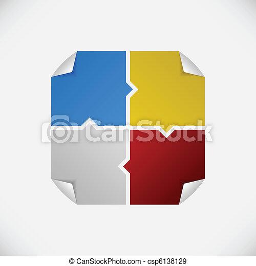 Tag Sticker Label Plaster Shadow - csp6138129