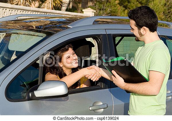 passed driving, exam or buying or hiring, new car. - csp6139024