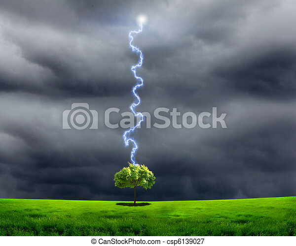 thunderstorm and lighting
