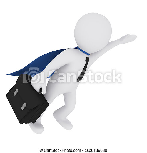 3D man flying like a superman - csp6139030