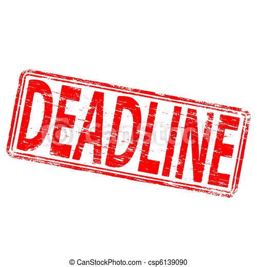 Deadline Stamp - csp6139090