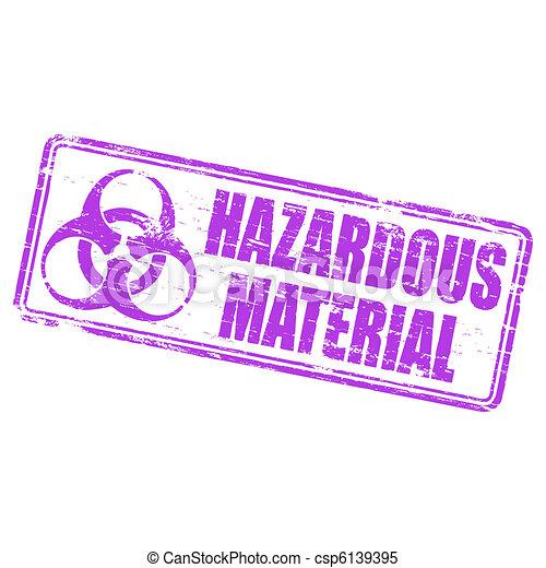 Hazardous Material Stamp - csp6139395