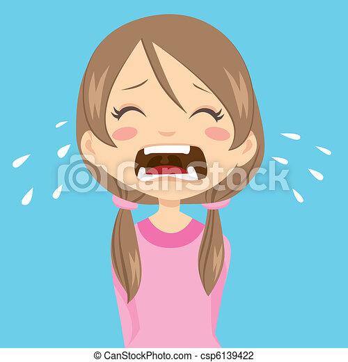 Girl Crying - csp6139422