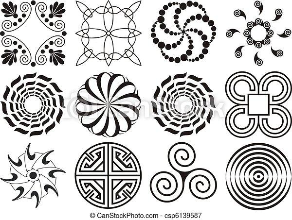 Black And White Curved Line Design Twelve Black Amp White Design