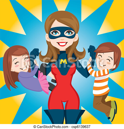 Super Hero Mom - csp6139637