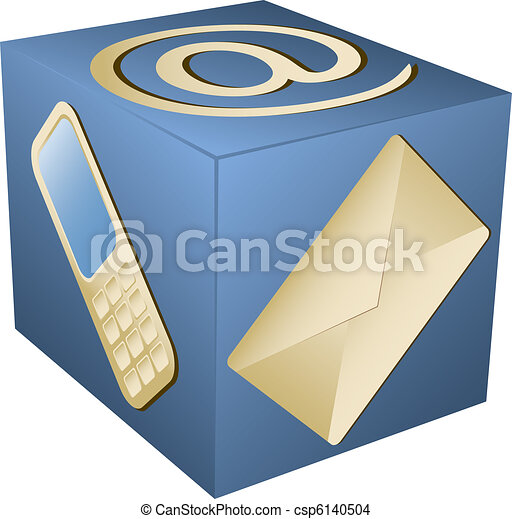 web icon for contact info - csp6140504
