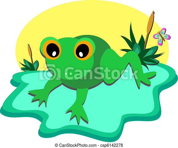 Tiny Frog Pond - csp6142278