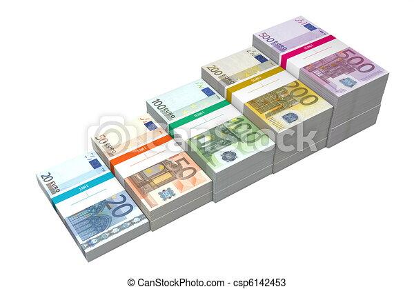 zeichnungen von 20 rampe banknoten 500 euro banknoten von 20 zu csp6142453. Black Bedroom Furniture Sets. Home Design Ideas