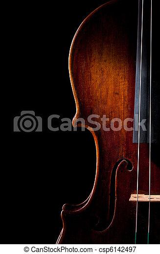 violin music string art instrument - csp6142497