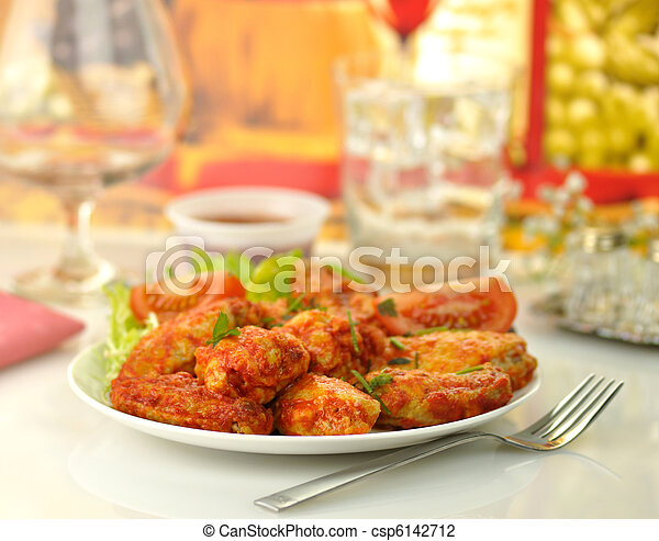 hot chicken wings - csp6142712